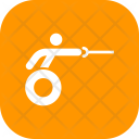 Fencing Wheelchair Sword Icon