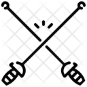 Fencing Fitness Gym Icon