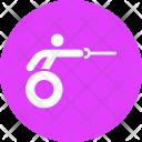 Fencing Wheelchair Sword Icon