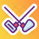 Fencing Cross Swords War Symbol Icon