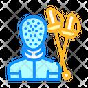 Fencing Sport Color Icon