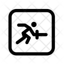 Fencing Game Playing Icon