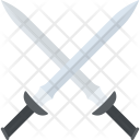 Fencing Kendo Crossed Icon
