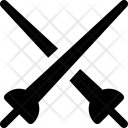 Fencing Sword Knife Icon