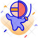 Fencing Player Icon