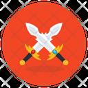 Fencing Swords Cross Swords War Symbol Icon