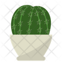 Ferocactus Potted Plant Icon