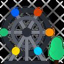 Ferries Wheel Giant Wheel Theme Park Icon
