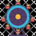 Ferris Wheel Amusement Recreation Icon