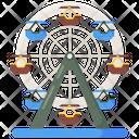 Ferris Wheel Carnival Sky Wheel Icon