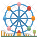 Ferris Wheel Fairground Icon