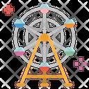 Ferris Wheel Fair Icon
