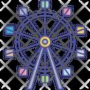 Ferris Wheel Amusement Park Carnival Icon