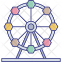 Amusement Park Carnival Fairground Icon