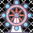 Ferris Wheel Carousel Ferris Park Wheel Icon