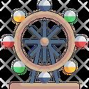 Ferris Wheel Amusement Park Big Wheel Icon