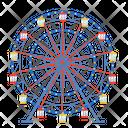 Ferris Wheel Circus Set Circus Icon