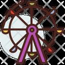 Ferris Wheel Carnival Wheel Icon