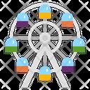 Ferris Wheel Wheel Amusement Park Carnival Festival Circus Play Icon