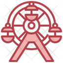 Ferris Wheel Hobbies And Free Time Holiday Icon