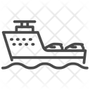 Ferry Vessel Car Transport Icon