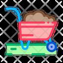 Fertilizer Trolley Gardener Icon