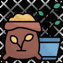 Fertilizer Farming And Gardening Seed Bag Icon