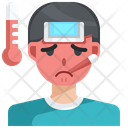 Fever Flu Thermometer Icon