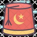 Fez Hat Turkish Cap Headgear Icon