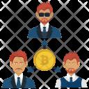 Bitcoin Office Team Icon