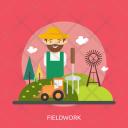 Fieldwork Agriculture Farm Icon