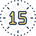 Fifteen Number Count Icon