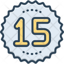 Fifteen Age Number Icon