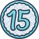 Fifteen Numerical Number Icon