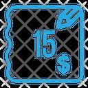 Fifteen Dollar Bill Bill Invoice Icon