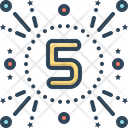 Fifth Number Five Icon