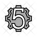 Fifth Number Numbers Icon