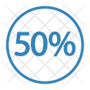 Fifty Discount Percent Icon