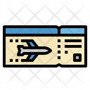 Ticket Flight Airplane Icon