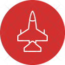 Jet Fighter Aircraft Icon