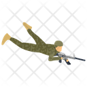 Fighting Soldier Military Person Fighter Icon