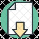 File Downloading Down Icon