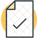 File Accepted Document Icon