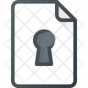 File Lock Protection Icon