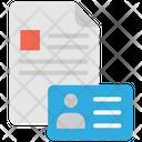 File Identification File Id Card Icon