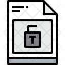 File Unlock Document Icon