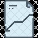 File Loss Graph Icon