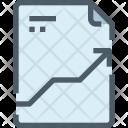 File Growth Analysis Icon