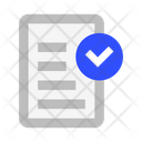 File Text Check Icon