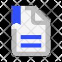 File Text Bookmark Icon